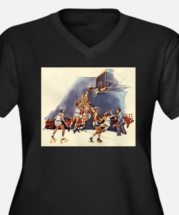 Vintage Sports Basketball Plus Size T-Shirt