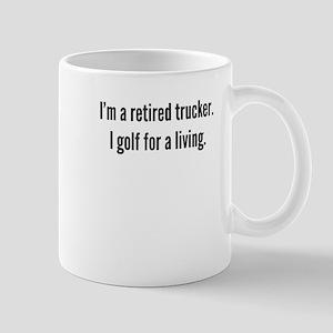 Retired Trucker Golfer Mugs