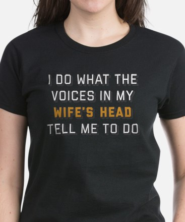 I Do What The Voices In My Wi Women's Dark T-Shirt