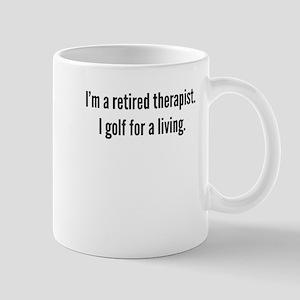 Retired Therapist Golfer Mugs