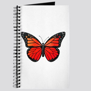Red Monarch Butterfly Watercolor Journal