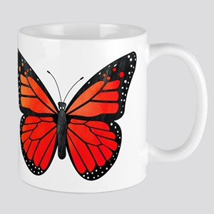 Red Monarch Butterfly Watercolor Mug