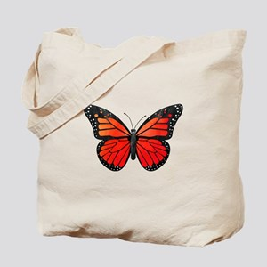 Red Monarch Butterfly Watercolor Tote Bag