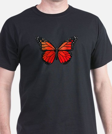 Red Monarch Butterfly Watercolor T-Shirt