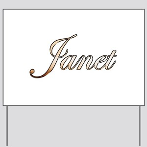 Gold Janet Yard Sign