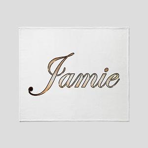 Gold Jamie Throw Blanket