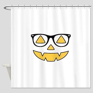 Pumpkin Face Shower Curtain