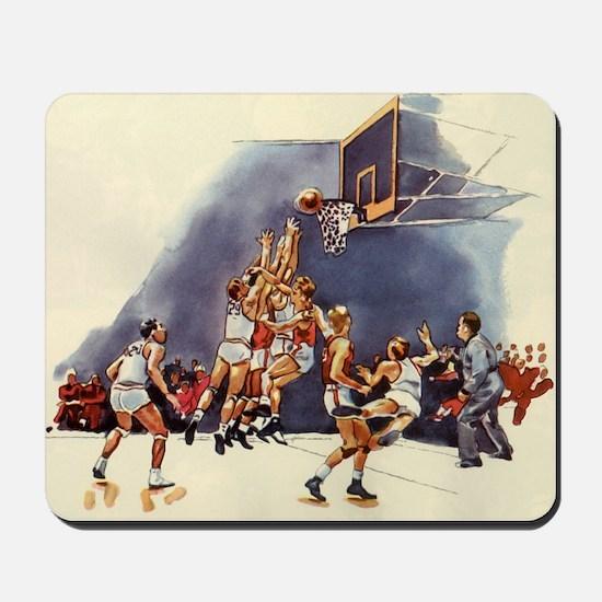Vintage Sports Basketball Mousepad