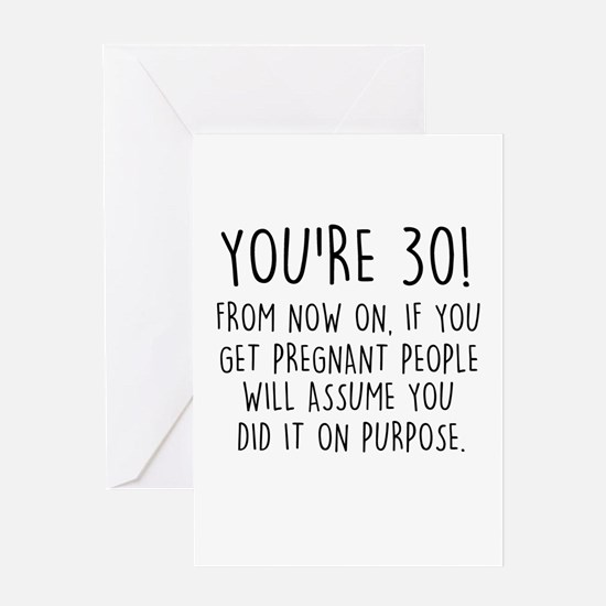 Funny 30th birthday funny 30th birthday greeting cards cafepress youre 30 greeting cards bookmarktalkfo Choice Image