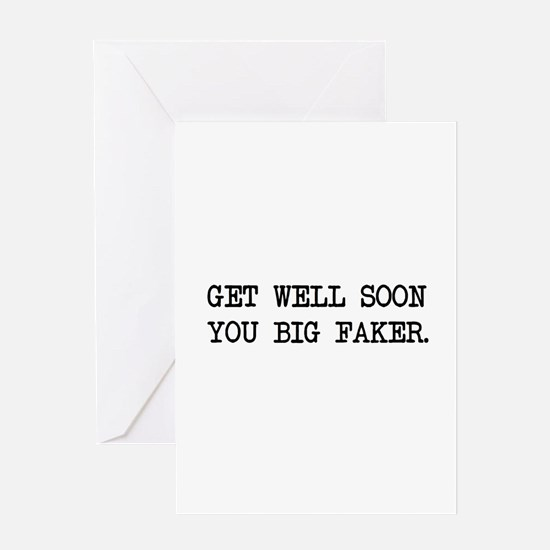 Faking Sick Greeting Cards