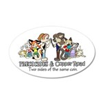 Precocious/copper Road 35x21 Oval Wall Decal