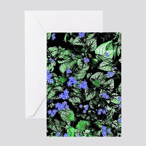 Tiny Blue Flowers Greeting Cards