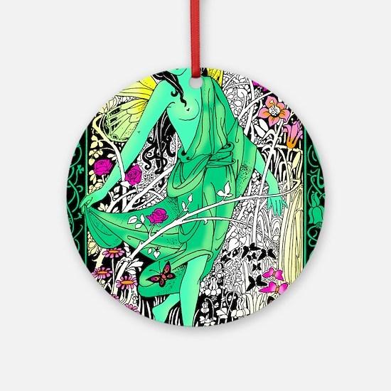 Absinthe Green Fairy Ornament (Round)