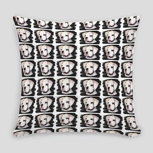 White Boxer Puppy Everyday Pillow