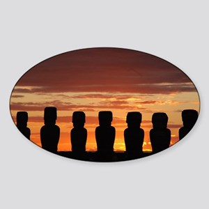 Easter Island Moai at Sunrise Sticker
