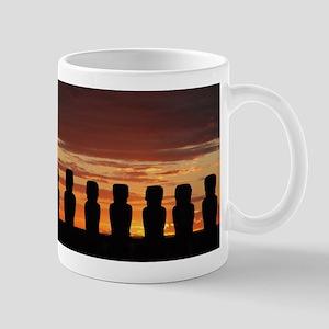 Easter Island Moai at Sunrise Mugs