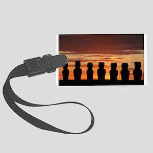 Easter Island Moai at Sunrise Luggage Tag