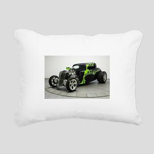 Hot Rod Rectangular Canvas Pillow