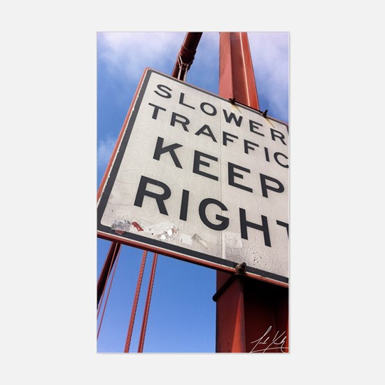 Cute Slower traffic keep right Sticker (Rectangle)