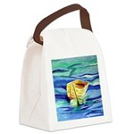 Boat at Sea Canvas Lunch Bag