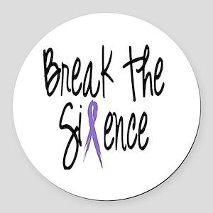 Speak Out, ribbon Round Car Magnet