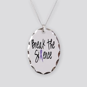 Speak Out, ribbon Necklace Oval Charm