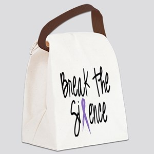 Speak Out, ribbon Canvas Lunch Bag