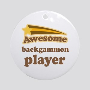 Awesome Backgammon Player Ornament (Round)