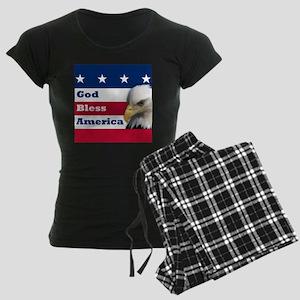 GodBlessAmerica_4in Women's Dark Pajamas