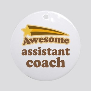 Awesome Assistant Coach Ornament (Round)