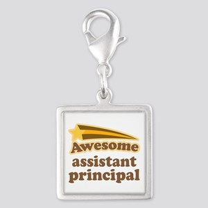 Awesome Assistant Principal Silver Square Charm