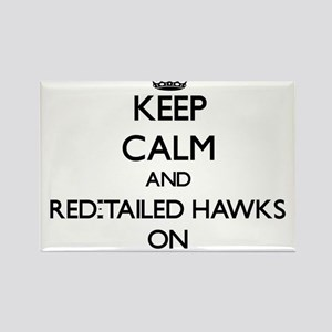 Keep calm and Red-Tailed Hawks On Magnets