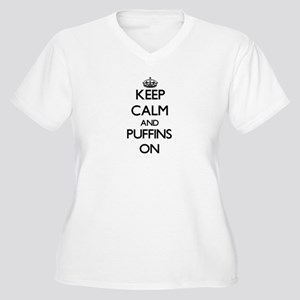 Keep calm and Puffins On Plus Size T-Shirt