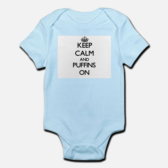 Keep calm and Puffins On Body Suit