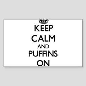 Keep calm and Puffins On Sticker