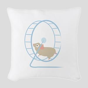 Hamster Wheel Woven Throw Pillow
