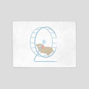 Hamster Wheel 5'x7'Area Rug