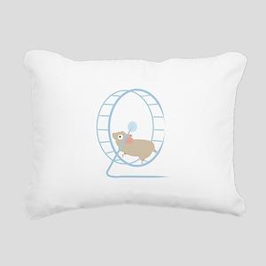 Hamster Wheel Rectangular Canvas Pillow