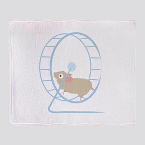 Hamster Wheel Throw Blanket