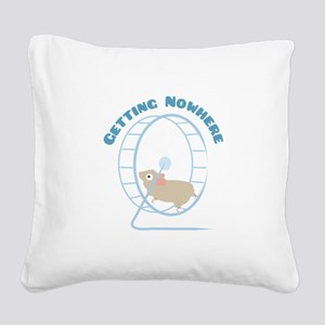 Getting Nowhere Square Canvas Pillow