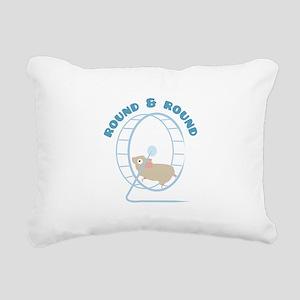 Round & Round Rectangular Canvas Pillow