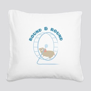 Round & Round Square Canvas Pillow
