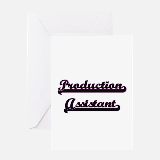 Production Assistant Classic Job De Greeting Cards