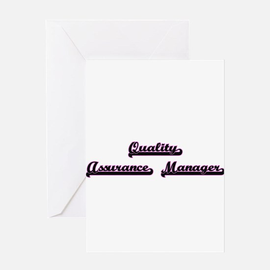 Quality Assurance Manager Classic J Greeting Cards
