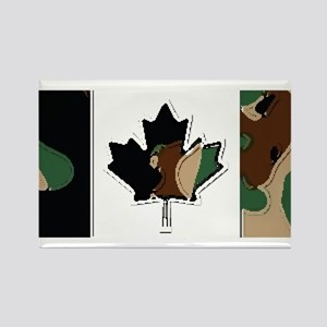 Canadian Flag Camo Brown & Green Woodland Magnets