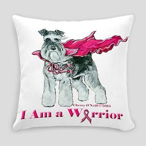 Schnauzer Warrior Everyday Pillow