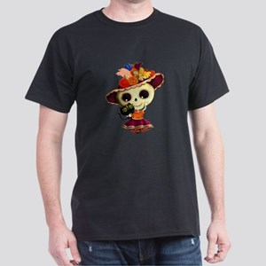 Cute Dia de Los Muertos Skeleton Girl T-Shirt