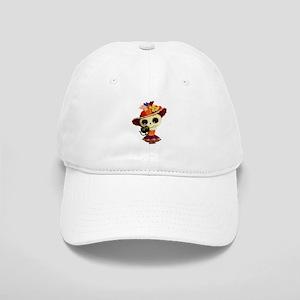 Cute Dia de Los Muertos Skeleton Girl Baseball Cap d666ade0a256
