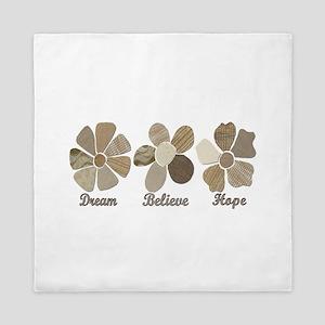 Dream Believe Hope Inspirational Fabri Queen Duvet