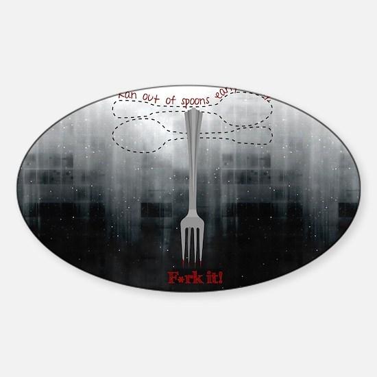 Cool Spoony Sticker (Oval)